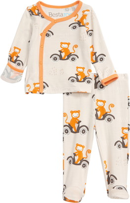 Bestaroo Moped Monkey Wrap Top & Footie Pants Set