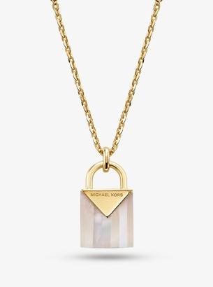 Michael Kors 14K Gold-Plated Sterling Silver Lock Necklace