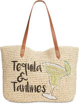 INC International Concepts Inc Tropical Straw Tote