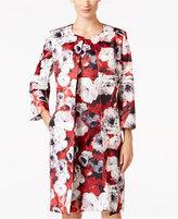 Kasper Floral-Print Twill Topper Jacket
