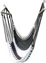WholeStory Hammocks Swinging Hammock Lounger, Black/White