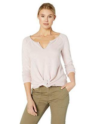Three Dots Women's JY2662 Viscose Rib Mock Neck top