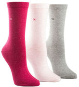 Calvin Klein Three-Pack Sparkle Crew Socks