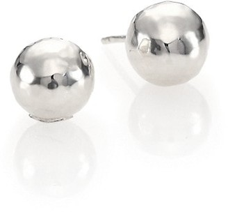 Ippolita Glamazon Sterling Silver Hammered Ball Stud Earrings