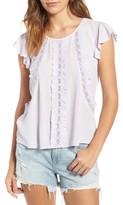 Hinge Women's Ruffle & Lace Top