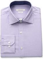 Perry Ellis Portfolio Men's Slim Fit Adjustable Collar Perf Mini Check Dress Shirt