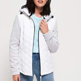 Superdry Padded Jacket with Adjustable Hood and Sweatshirt Sleeves