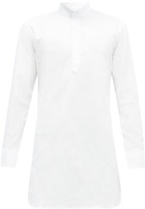 Emma Willis Stand-collar Half-placket Cotton-oxford Tunic - White