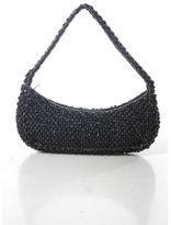 Moyna Black Beaded Encrusted Evening Shoulder Baguette