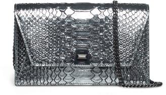 Akris Anouk Python Snakeskin Envelope Clutch Bag