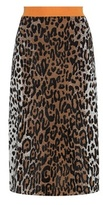 Stella McCartney Leopard-print Knitted Skirt