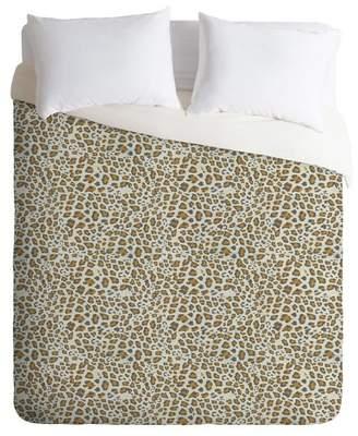 Deny Designs Holli Zollinger Deco Leopard Print Duvet Set