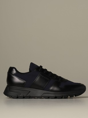 Prada Prax 01 Sneakers In Technical Fabric And Leather