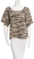 Ulla Johnson Short Sleeve Patterned Sweater