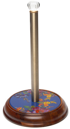 Mackenzie Childs Flower Market Wood Paper Towel Holder, Lapis