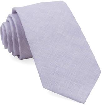 Tie Bar South End Solid Lavender Tie
