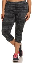 CurvyLuv.com Women's Plus Size Active Wear Gym Athletic Cropped Leggings Pants Pattern