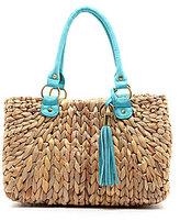 Straw Studios Hula Straw Satchel Bag