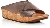 FitFlop Kys Metallic Crisscross Cork Platform Slide Sandals