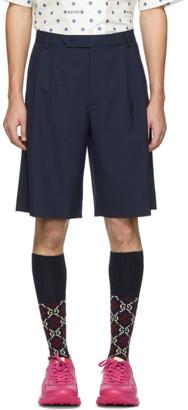 Gucci Navy Wool Shorts