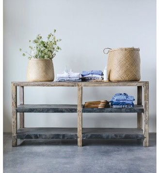 Bungalow Rose Kehl Reclaimed Wood & Metal Clad Console Table