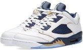 "Nike Jordan 5 Retro Low ""Dunk From Above"" Men's Shoes White/Metallic Gold Star-Midnight Navy 819171-135 ( D(M) US)"
