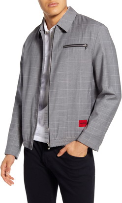 HUGO Urox2031 Windowpane Wool Jacket