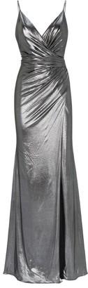 Jovani Metallic Wrap Dress
