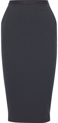 Rick Owens Pillar Textured Cotton-blend Midi Skirt