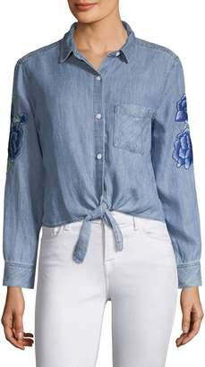 Rails Val Floral Patch Shirt