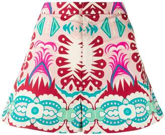 Le Sirenuse geometric print shorts