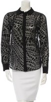Rachel Zoe Sheer Patterned Top w/ Tags