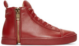 Diesel Red S-Nentish High-Top Sneakers