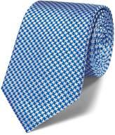 Charles Tyrwhitt Royal blue silk classic puppytooth tie