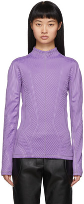 Thierry Mugler Purple Scuba Turtleneck