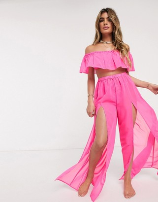 Candypants Candy Pants pink ruffle pants and bandeau co