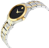 Movado Collection Black Dial Ladies Watch, 28mm
