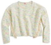 Design History Girls' Fringe Trim Spacedye Sweater - Sizes S-XL