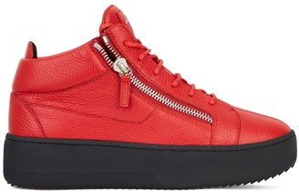 Giuseppe Zanotti Kriss grained leather trainers