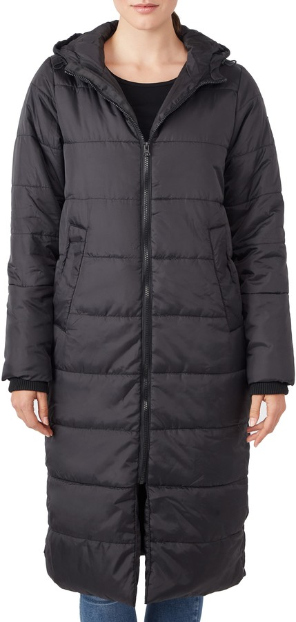 Modern Eternity 3-in-1 Long Quilted Waterproof Maternity Puffer Coat