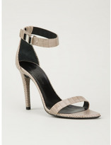 Proenza Schouler crocodile effect sandals