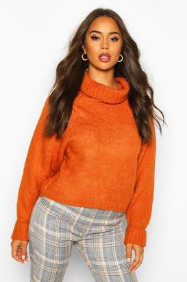 boohoo Roll Neck Raglan Sleeve Jumper