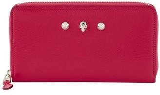 Alexander McQueen Zip wallet in leather