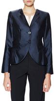Armani Collezioni Silk Satin Curved Blazer