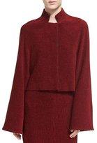 Rosetta Getty Chenille Cropped Jacket, Dark Red