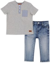 7 For All Mankind Boys' Henley & Jeans Set