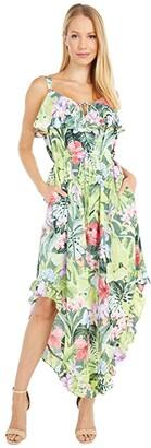 Tommy Bahama Tropolicious Maxi Dress Sleeveless (Green Frog) Women's Clothing