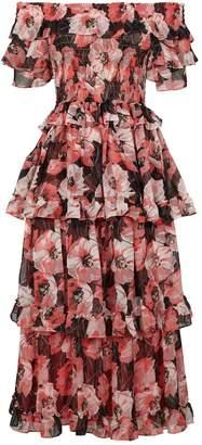 MISA Los Angeles Tallulah Off-The-Shoulder Midi Dress