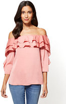 New York & Co. Ruffled Off-The-Shoulder Blouse