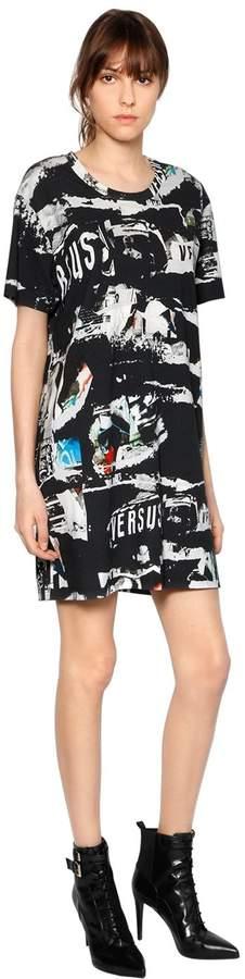 Versus Printed Cotton Jersey T-Shirt Dress
